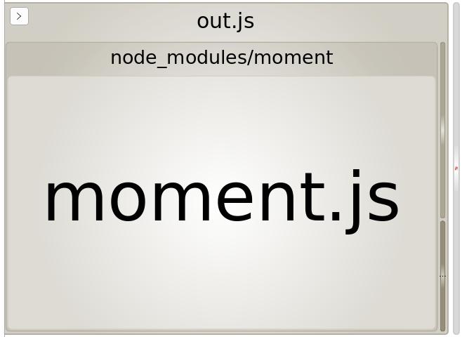 webpack bundle analyzer for moment