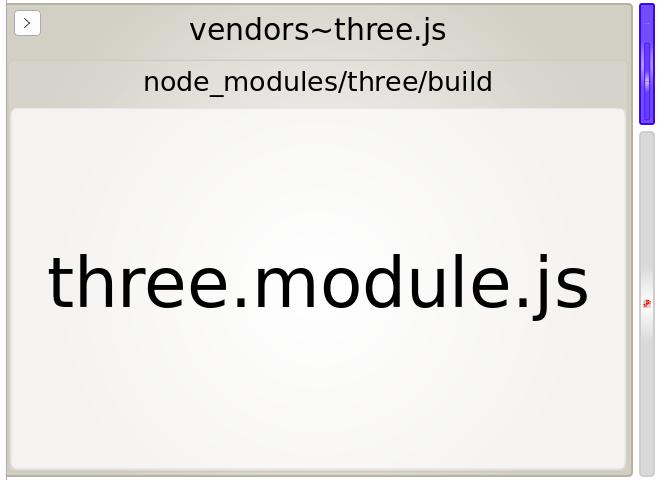 webpack bundle analyzer for just async three